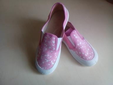 Детские мокасины Waldi Вика 6 розовые белый носок для девочки