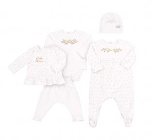 Детский комплект для новорожденных с пяти предметов  КП 237 Бемби интерлок