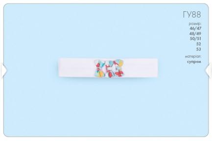 Детская повязка на голову для девочки с бантиками ГУ 88 Бемби, супрем
