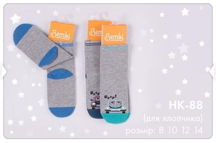 Детский набор носков с 6 шт для мальчика НК 88 Бемби, простые