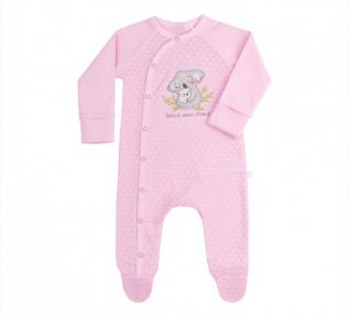 Детский комбинезон для новорожденных КБ 146 Бемби интерлок розовый