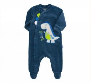 Детский комбинезон для мальчика КБ 148 Бемби велюр синий
