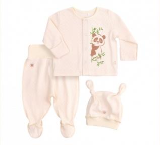 Детский комплект для новорожденных с двух предметов КП 214 Бемби рибана молочный