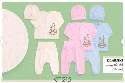 Детский комплект с трех предметов для новорожденных КП 215 Бемби, рибана