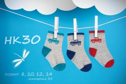 Шкарпетки прості (12 шт.) НК 30