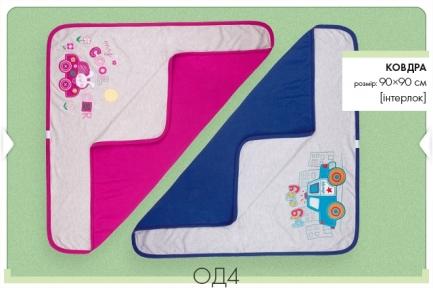 Детское одеяло для девочки 90х90 с рисунком ОД 4 Бемби, интерлок