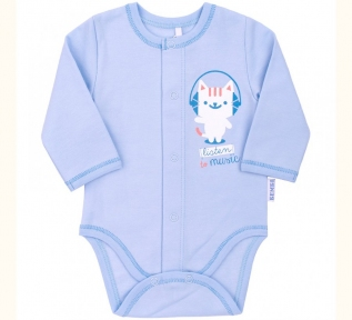 Боди с длинным рукавом для новорожденных БД 59а Бемби байка голубой