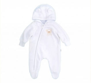 Детский комбинезон для новорожденных КБ 140 Бемби махра белый