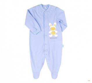 Детский комбинезон человечек с длинным рукавом для новорожденных КБ 77 Бемби супрем голубой