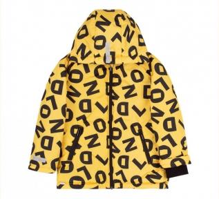Детская осенняя куртка для мальчика КТ 246 Бемби желтый-рисунок