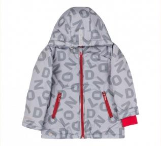 Детская осенняя куртка для мальчика КТ 246 Бемби серый-рисунок