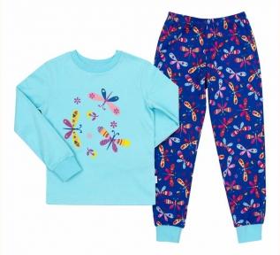 Детская пижама универсальная ПЖ 53 Бемби светло-голубой-синий-рисунок