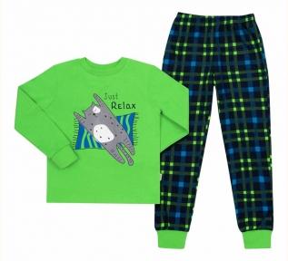 Детская пижама универсальная ПЖ 53 Бемби салатовый-синий-рисунок