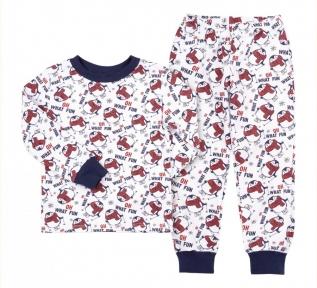 Детская пижама универсальная ПЖ 53 Бемби красный-синий-рисунок