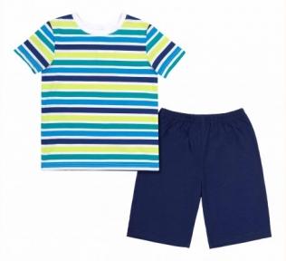 Детская летняя пижама на мальчика ПЖ 54 Бемби разноцветный-синий-рисунок