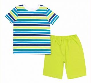 Детская летняя пижама на мальчика ПЖ 54 Бемби разноцветный-зеленый-рисунок