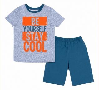 Детская летняя пижама на мальчика ПЖ 54 Бемби голубой-синий