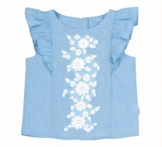 Детская летняя блузка на девочку РБ 129 Бемби ткань рубашечная