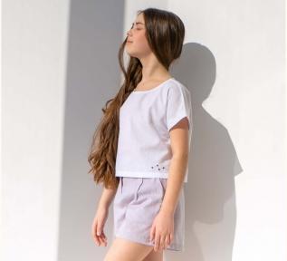 Детская блузка на девочку РБ 151 Бемби белый