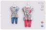 Детский летний костюм для девочки КС 556 Бемби, супрем серый розовый