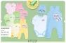 Детский комплект с трех предметов для новорожденных КП 221 Бемби, интерлок